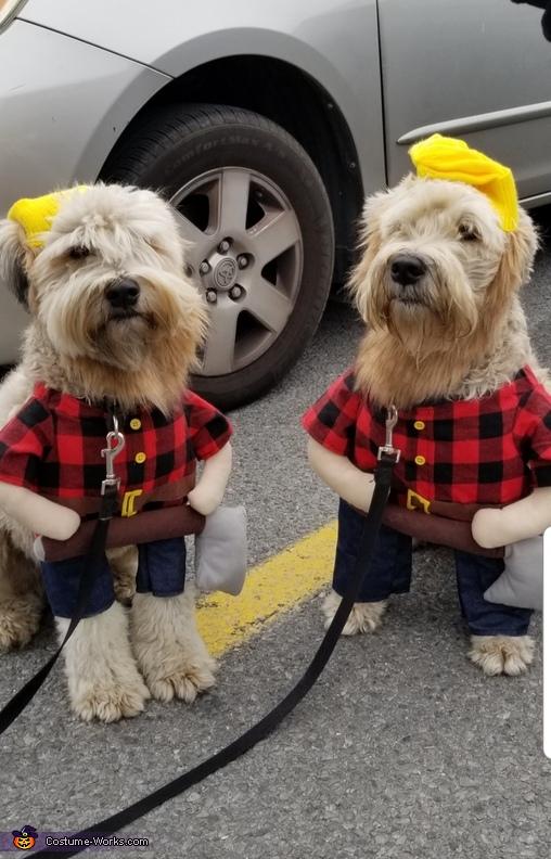 2 Canadian Lumberjacks Costume