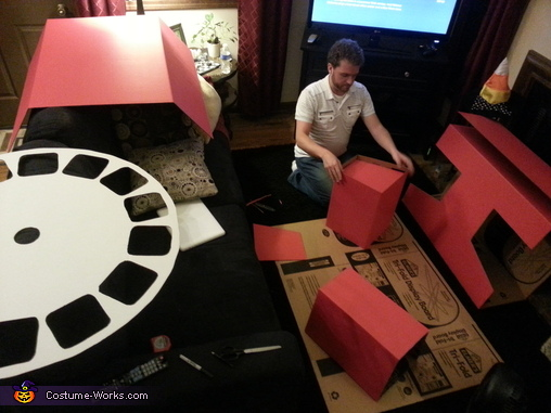 The making of the costume, early stages., 3D Viewmaster & Slide Reel Costume