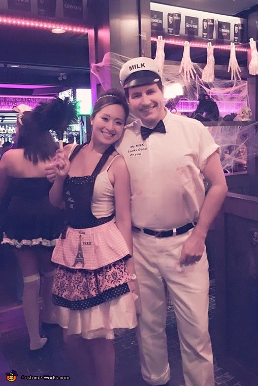 50's Housewife and the Milkman Costume