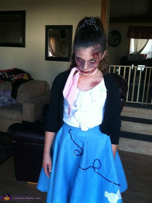 50's Zombie Homemade Costume