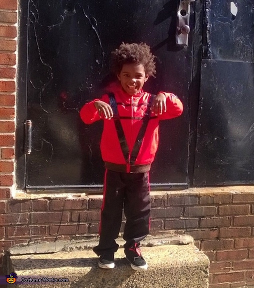 Avery as MJ from the Thriller video, 5 Michael Jacksons Costume