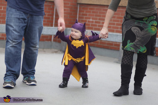60's Era Batgirl Baby Homemade Costume
