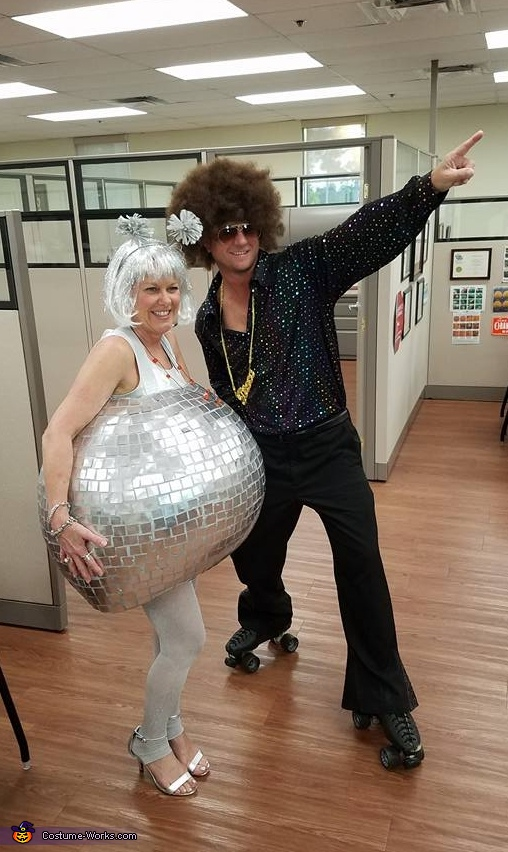 70's Disco Ball wt Rollerskating Disco Dude Costume
