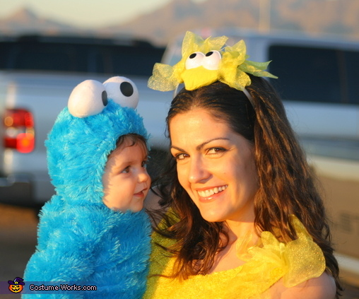 Cookie and his Mom, Sesame Street Family Costume