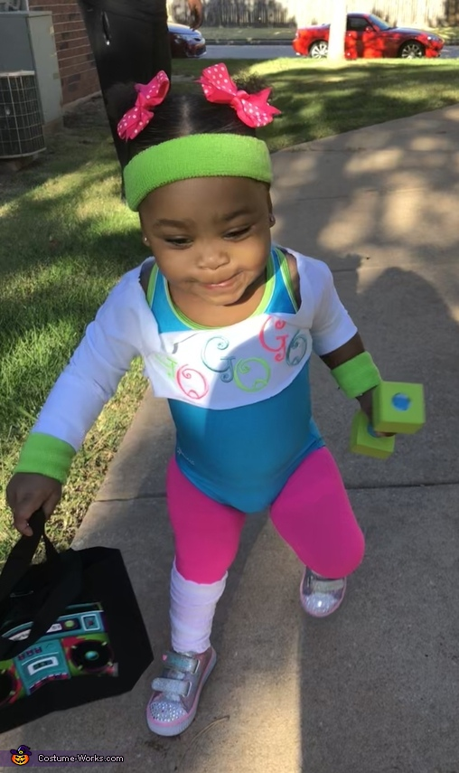 Kenzie in action!, 80's Aerobics Instructor Costume