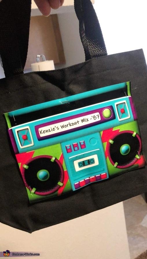 Trick or treat boom box bag!, 80's Aerobics Instructor Costume