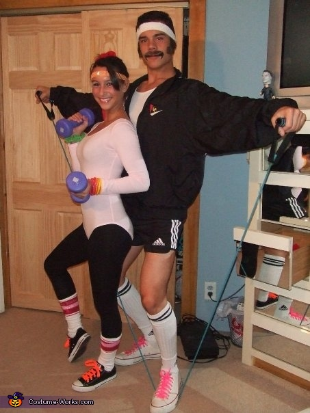 80's Exercise Couple Costume
