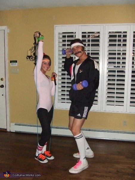 80's Exercise Couple, 80's Exercise Couple Costume
