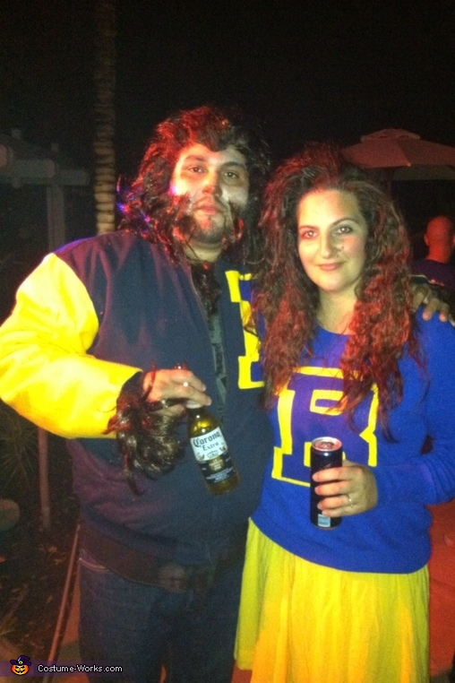 80's Teen Wolf and Cheerleader Costume