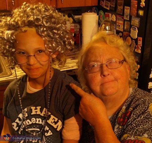 9 yo Grandma Homemade Costume