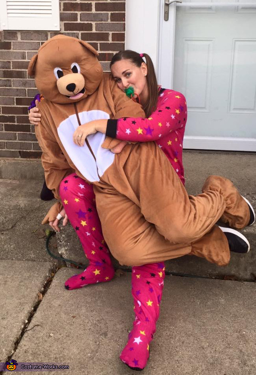 A Baby and her Teddy Bear Costume