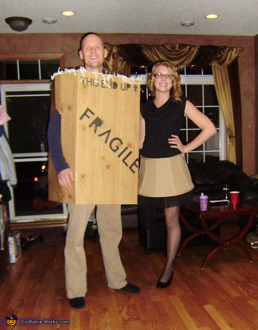 couples halloween costume idea a christmas story leg lamp box costume - Halloween Box Costumes