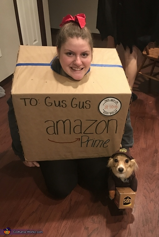 A Delivery Doggy and his Package Costume
