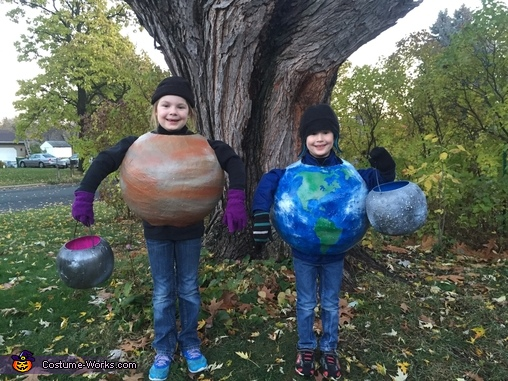 Mercury, Venus, Earth and the moon, A Family of Planets Costume