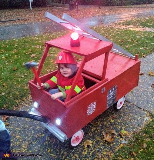 A Fireman and his Truck Costume