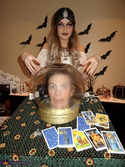 A Fortune Teller and her Crystal Ball Costume