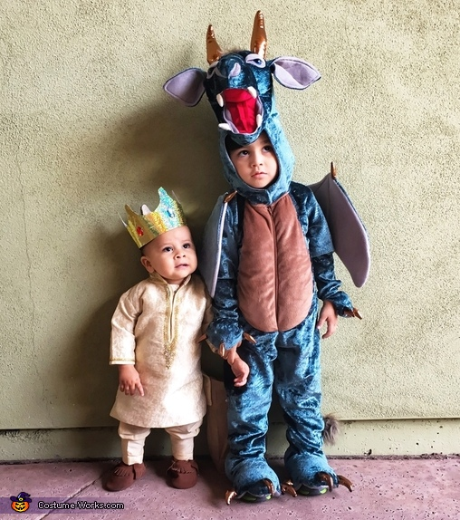 A King and his Pet Dragon Costume