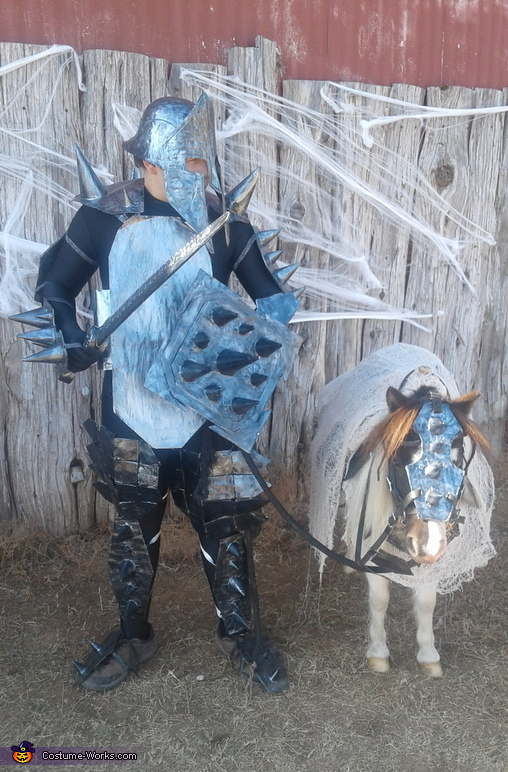 A Knight with his Pony Costume