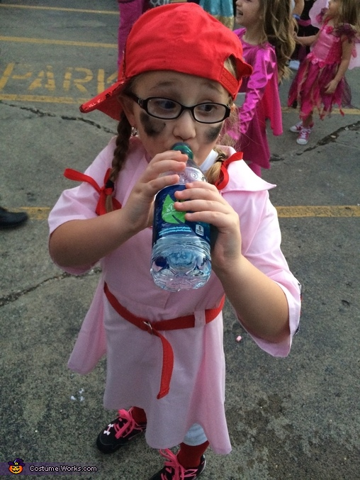 Taking a water break!, A Rockford Peach Costume