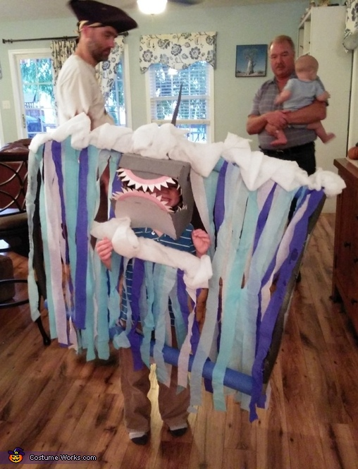 A Shark Coming out of a Tidal Wave Costume