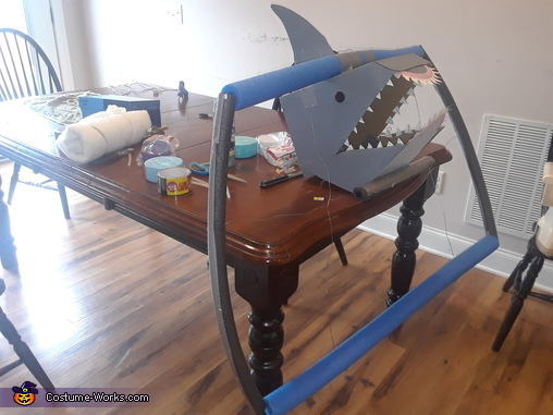 A Shark Coming out of a Tidal Wave Homemade Costume