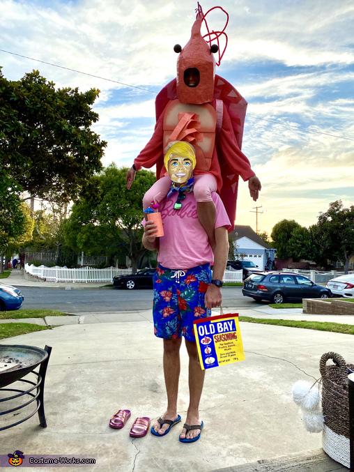 A Shrimp on The Barbie Costume