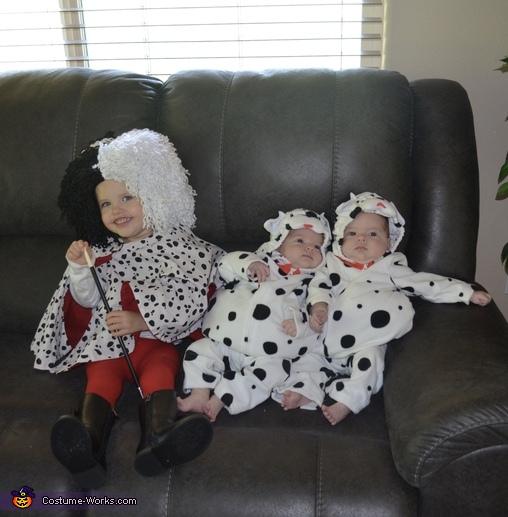A Sister and her Puppies Costume