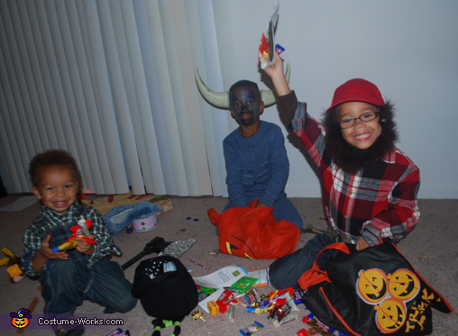 A successful night!. Paul Bunyan and the Blue Ox - Homemade costumes for kids