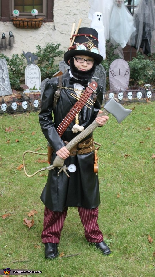 Abraham Lincoln, Steampunk Vampire Hunter, Abraham Lincoln, Steampunk Vampire Hunter Costume