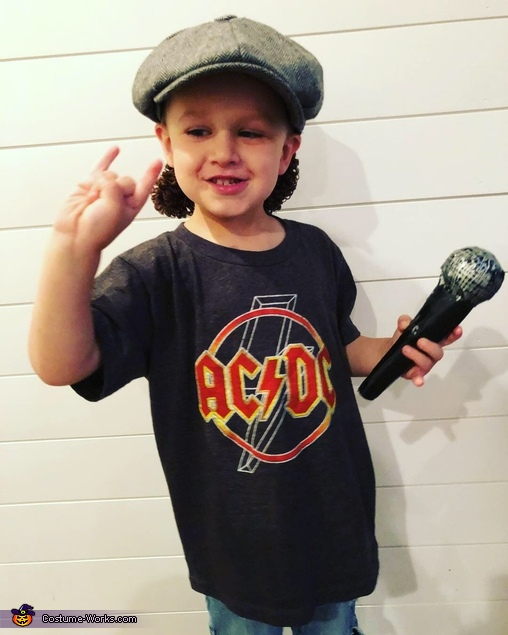 Little Brian Johnson, AC/DC Costume