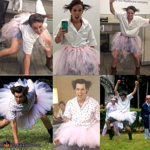 The match up of real deal to myself, Ace Ventura: Pet Detective Costume