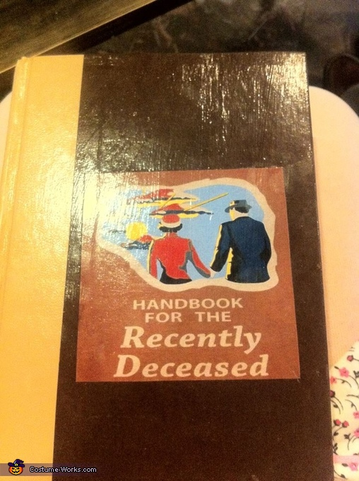 Handbook for the recently deceased aka my purse, Adam and Barbara from Beetlejuice Costume