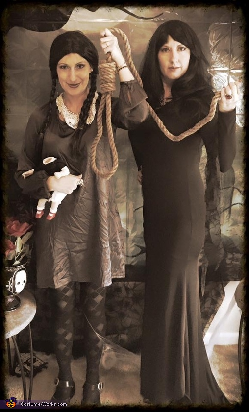 Morticia and Wednesday, Addams Family Costume