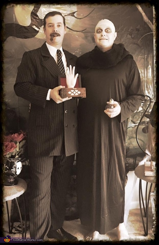 Go,Es and Uncle Fester, Addams Family Costume