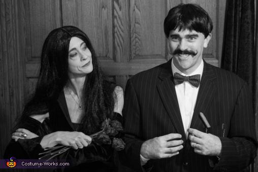 classic Morticia and Gomez pose, Addams Family Costume