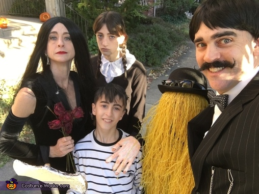 Addams Family selfie!, Addams Family Costume
