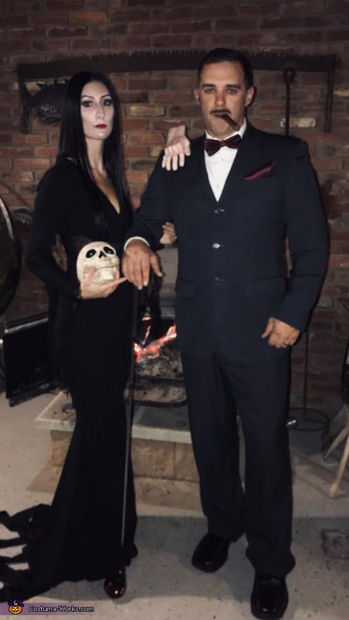 Mortica and Gomez Addams, Addams Family Costume