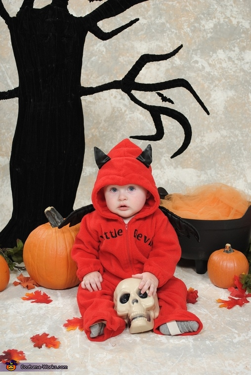 Aiden as a devil, but is sweet as pie!, Adorable Ducky Baby Costume