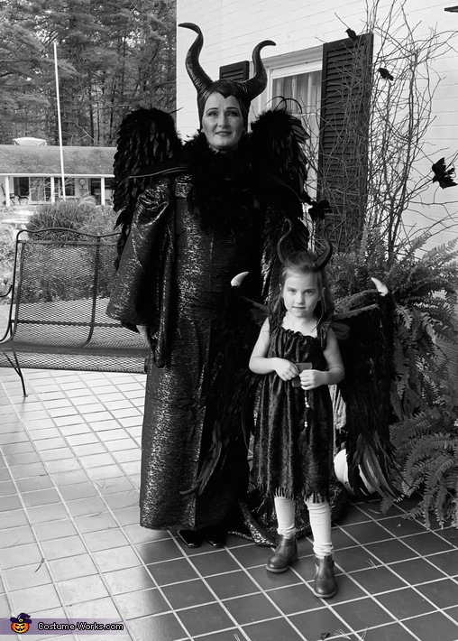 Adult and young Maleficent Costume