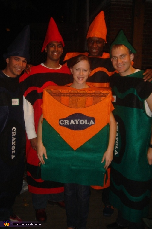 Adult Crayons and Box Costume