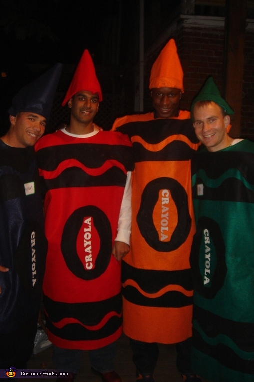 Adult Crayons, Adult Crayons and Box Costume