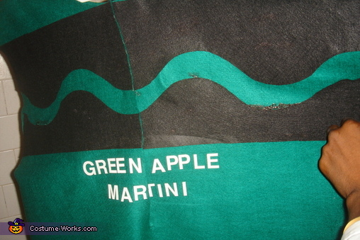 Green Apple Martini, Adult Crayons and Box Costume