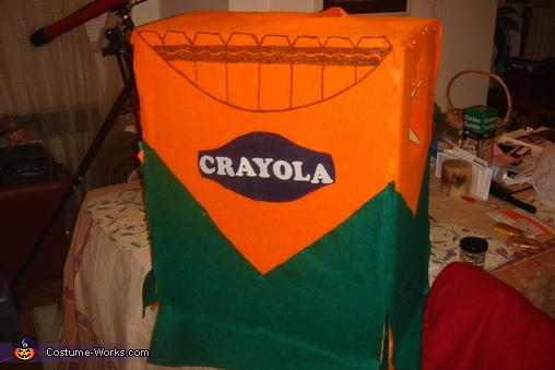 Crayon Box, Adult Crayons and Box Costume