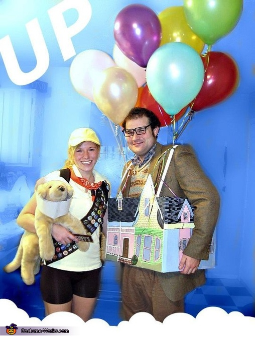 Carl Fredricksen, Russell, and Doug - Homemade costumes for couples