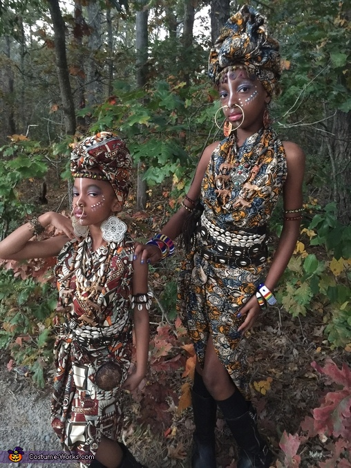 Little African Princesses Costume