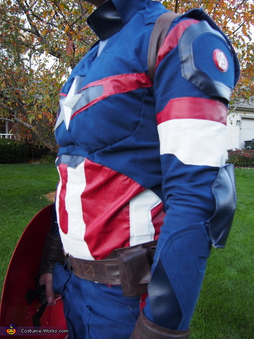 Belt, torso, arm detail, Age of Ultron Captain America Costume