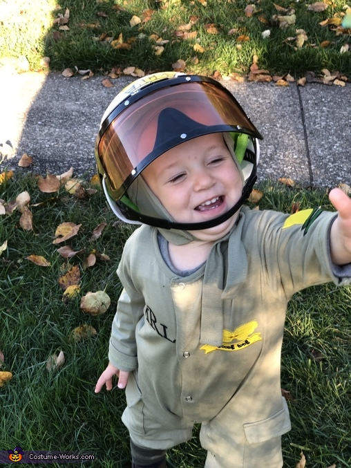 Happy to be able to fly. All suited up., Air Force Pilot Costume