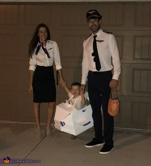 We're flying through cloud 9 with this aircraft and crew, Aircraft and Crew Costume