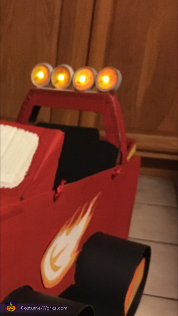 top lights, AJ and Blaze from Blaze and the Monster Machines Costume