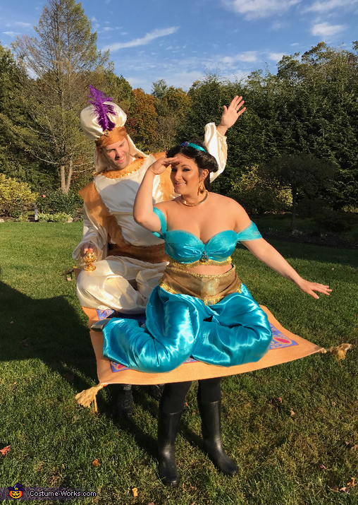 Aladdin and Jasmine on their Magic Carpet Costume